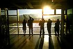 Aurora International Airport, Guatemala City, at dawn
