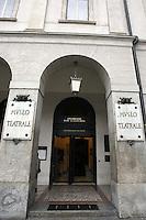 L'entrata del Museo Teatrale alla Scala, a Milano.<br /> The entrance of the Museo Teatrale of La Scala opera house in Milan.<br /> UPDATE IMAGES PRESS/Riccardo De Luca