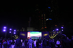 The opening ceremony held at the Skydive Dubai before the Dubai Tour 2018 the Dubai Tour&rsquo;s 5th edition held at Dubai Frame in Zabeel Park, Dubai, United Arab Emirates. 5th February 2018.<br /> Picture: LaPresse/Massimo Paolone | Cyclefile<br /> <br /> <br /> All photos usage must carry mandatory copyright credit (&copy; Cyclefile | LaPresse/Massimo Paolone)
