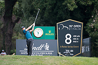 Haydn Porteous (RSA) in action on the 8th hole during the first round of the 76 Open D'Italia, Olgiata Golf Club, Rome, Rome, Italy. 10/10/19.<br /> Picture Stefano Di Maria / Golffile.ie<br /> <br /> All photo usage must carry mandatory copyright credit (© Golffile | Stefano Di Maria)
