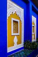 Morocco, Marrakesh. The Majorelle Garden is a botanical garden in Marrakesh.