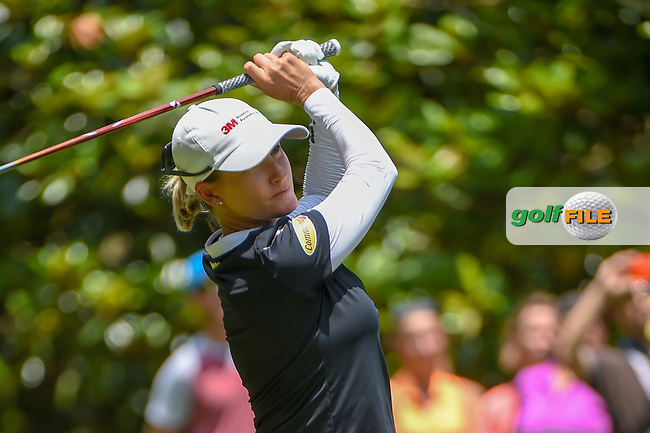 Sarah Jane Smith (AUS) watches her tee shot on 3 during round 4 of the U.S. Women's Open Championship, Shoal Creek Country Club, at Birmingham, Alabama, USA. 6/3/2018.<br /> Picture: Golffile | Ken Murray<br /> <br /> All photo usage must carry mandatory copyright credit (© Golffile | Ken Murray)