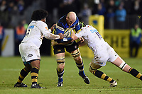 Matt Garvey of Bath Rugby takes on the Wasps defence. Aviva Premiership match, between Bath Rugby and Wasps on December 29, 2017 at the Recreation Ground in Bath, England. Photo by: Patrick Khachfe / Onside Images