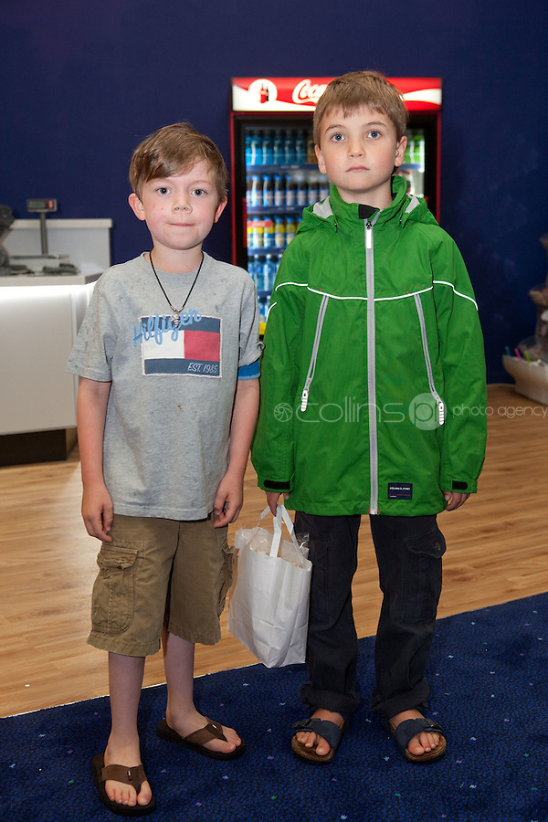 15/7/2011. Murray Baker and Max Simons are pictured at the opening of UCI Stillorgan. Picture Collins Photo Agency.
