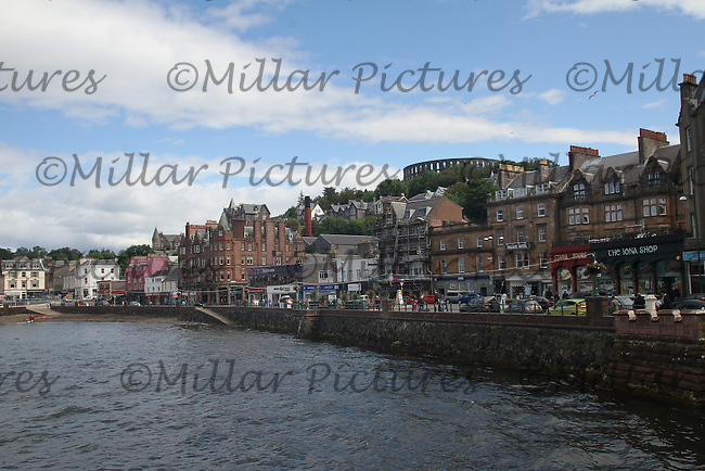 General view of Oban, Argyl & Bute with McCaig's Tower in the background.