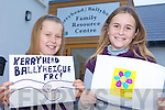 GRAND DESIGNS: Lisa Kearney and Keeva Reidy whose designs have been chosen in a competition to find a new logo for the Kerryhead/Ballyheigue Family Resource Centre.