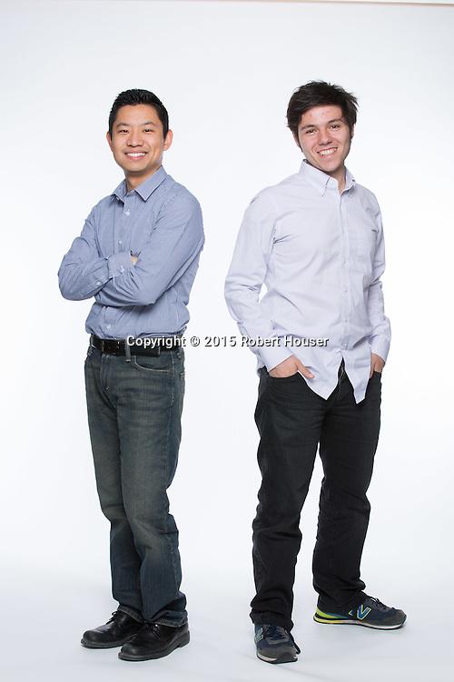 Portrait of Roger Lee - CEO & Co-Founder; Paul Sawaya - CTO & Co-Founder (white shirt) -  Captain401