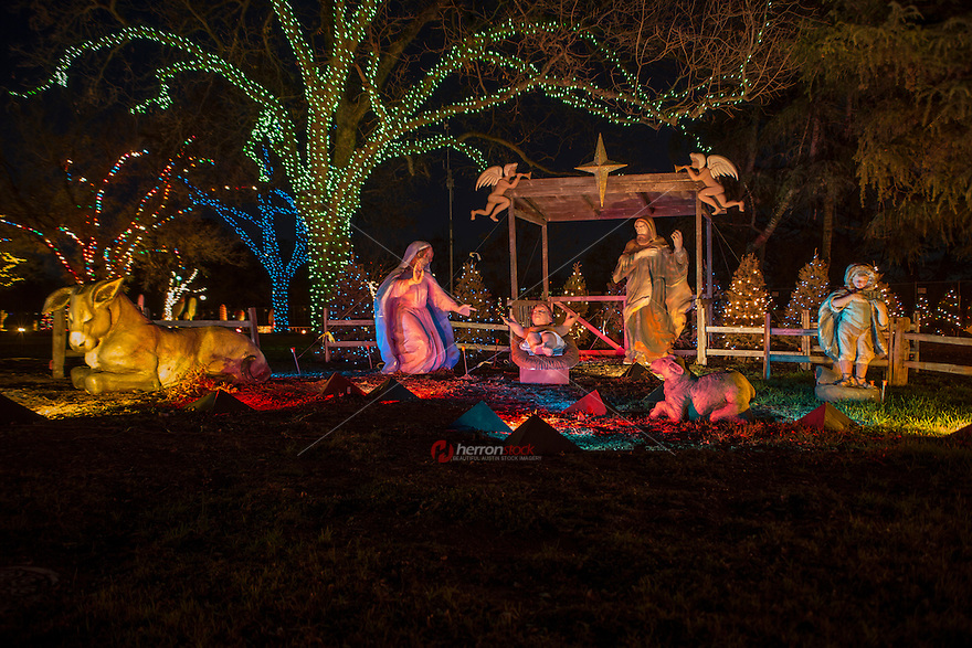 Zilker Park Trail of Lights Nativity Scene, Celebrating Jesus; the ...