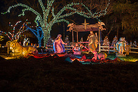 Zilker Park Trail of Lights Nativity Scene, Celebrating Jesus; the real reason for the season