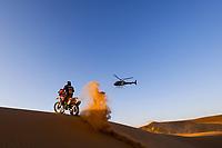 12th January 2020, Riyadh, Saudi Arabia;  09 Brabec Ricky (usa), Honda, Monster Energy Honda Team 2020, Bike,  during Stage 7 of the Dakar 2020 between Riyadh and Wadi Al-Dawasir, 741 km - SS 546 km, in Saudi Arabia - Editorial Use