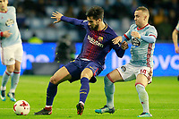 Celta de Vigo's Stanislav Lobotka (r) and FC Barcelona's Andre Gomes during Spanish Kings Cup match. January 4,2018. (ALTERPHOTOS/Acero)