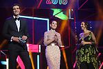 63 Premios Ondas.<br /> Gala de Entrega de los premios.<br /> Uri Sabat, Raquel Sanchez Silva & Llum Barrera.