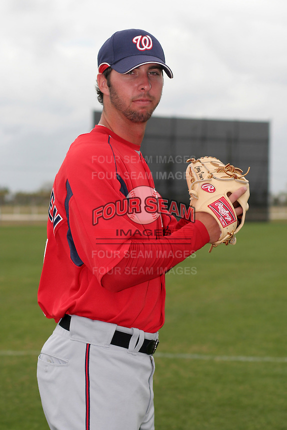 Washington Nationals minor leaguer Cory VanAllen during Spring Training at the Carl Barger Training Complex on March 20, 2007 in Melbourne, Florida.  (Mike Janes/Four Seam Images)