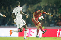 Spain's Nolito (r) and Germany's Rudiger during international friendly match.November 18,2014. (ALTERPHOTOS/Acero) /NortePhoto<br /> NortePhoto.com