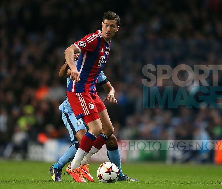 Robert Lewandowski of Bayern Munich - UEFA Champions League group E - Manchester City vs Bayern Munich - Etihad Stadium - Manchester - England - 25rd November 2014  - Picture Simon Bellis/Sportimage