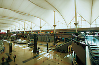 The interior of the Denver International airport. Colorado.
