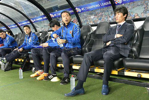 05.04.2016. Sydney Football Stadium,Sydney, Australia. AFC Champions League. Pohang coach Choi Jin-cheul before the game. Sydney v Pohang Steelers.