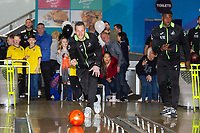 Pictured: Erwin Mulder of Swansea City during the Swansea player and fans bowling evening at Tenpin Swansea, Swansea, Wales, UK. Wednesday 22 January 2020