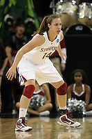 SACRAMENTO, CA - MARCH 29: Kayla Pedersen during Stanford's 55-53 win over Xavier in the NCAA Women's Basketball Championship Elite Eight on March 29, 2010 at Arco Arena in Sacramento, California.