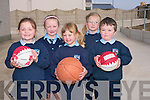 Children at Gneeveguilla National School celebrated the official opening of an extenstion to the play area and a revamp of the school outdoor area this week. .Back L-R Caoimhe Guerin and Roisin Colllins .Front L-R Ciara Hickey, Roisin Brosnan and Cian O'Leary