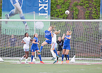 ;Cambridge, Massachusetts - May 18, 2014:  The Chicago Red Stars (blue and white) defeated the Boston Breakers (blue), 4-1 in a National Women's Soccer League Elite (NWSL) match at Harvard Stadium.