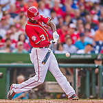 19 September 2015: Washington Nationals outfielder Michael Taylor in action against the Miami Marlins at Nationals Park in Washington, DC. The Nationals defeated the Marlins 5-2 in the third game of their 4-game series. Mandatory Credit: Ed Wolfstein Photo *** RAW (NEF) Image File Available ***