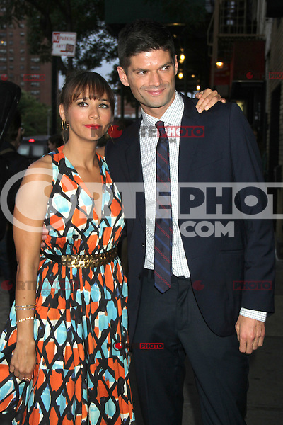 NEW YORK CITY, NY - August  01, 2012: Rashida Jones and Will McCormack at the screening of 'Celeste and Jess Forever' at the Sunshine Landmark Theater in New York City. &copy; RW/MediaPunch Inc. /NortePhoto.com<br />