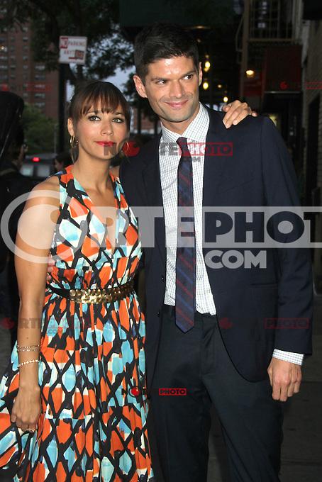 NEW YORK CITY, NY - August  01, 2012: Rashida Jones and Will McCormack at the screening of 'Celeste and Jess Forever' at the Sunshine Landmark Theater in New York City. &copy; RW/MediaPunch Inc. /NortePhoto.com<br /> <br /> **SOLO*VENTA*EN*MEXICO**<br />  **CREDITO*OBLIGATORIO** *No*Venta*A*Terceros*<br /> *No*Sale*So*third* ***No*Se*Permite*Hacer Archivo***No*Sale*So*third*