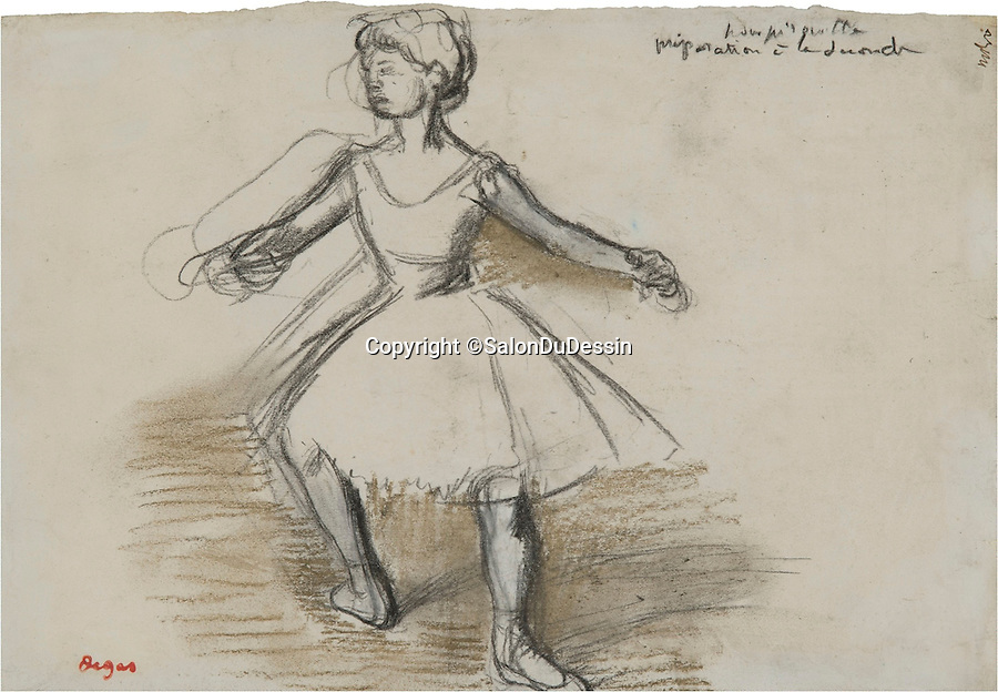 BNPS.co.uk (01202 558833)<br /> Pic: SalonDuDessin/BNPS<br /> <br /> Edgar Degas 'Danseuse' 1880.<br /> <br /> A exhibition reveals the brilliant technique behind some of the worlds greatest artists - as their stunning drawings come up for auction.<br /> <br /> Preparatory sketches are for most people nowadays the only way to ever own an original work by a famous artist and more than 1,000 drawings from some of the world's most famous have emerged on the market.<br /> <br /> The remarkable collection, which features drawings and preparatory sketches by Henri Matisse, Pablo Picasso, Edgar Degas and Salvador Dali, will be showcased at the six-day Salon Du Dessin exhibition in Paris in March.<br /> <br /> Notable works are tipped to sell for hundreds of thousands of euros and the overall value of the collection is estimated at 25-30 million euros.<br /> <br /> Drawings have become increasingly collectible in the past 10 years as they are seen as a more affordable way of getting hold of works from the art greats.<br /> <br /> Included in the sale are Matisse's 1944 drawing of 'apples' with pen and ink on paper, Degas' 'dancer' with charcoal on paper, Picasso's 'women with flowers' with pen and red pencil on paper and Dali's 'Madonna with Christ' using watercolour, ink and a ball-point pen.<br /> <br /> Degas' sketch of a dancer bares a striking resemblance to his famous sculpture of The Little Fourteen-Year-Old Dancer in 1881.