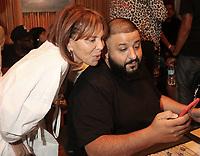 NEW YORK, NY - JUNE 14, 2017 Sylvia Rhone & DJ Khaled attend his new album listening event at Premier Studios June 14, 2017 in New York City. Photo Credit: Walik Goshorn / MediaPunch