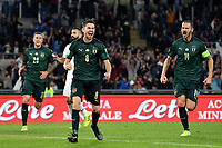 Jorginho of Italy celebrates after scoring on penalty the goal 0f 1-0 for his side <br /> Roma 12-10-2019 Stadio Olimpico <br /> European Qualifiers Qualifying round Group J <br /> Italy - Greece <br /> Photo Andrea Staccioli/Insidefoto
