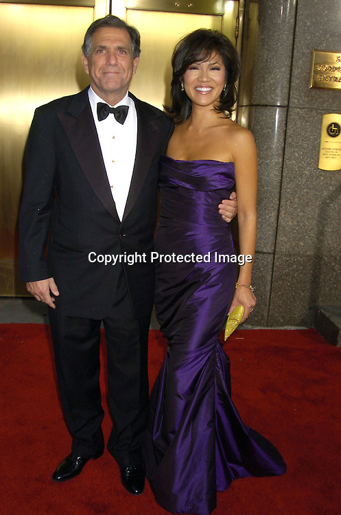 Les Moonves and wife Julie Chen ..arriving at the 59th Annual Tony Awards on June 5, 2005 at ..Radio City Music Hall. ..Photo by Robin Platzer, Twin Images
