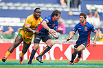 Spain vs Guyana during their HSBC Sevens Wold Series Qualifier match as part of the Cathay Pacific / HSBC Hong Kong Sevens at the Hong Kong Stadium on 27 March 2015 in Hong Kong, China. Photo by Xaume Olleros / Power Sport Images