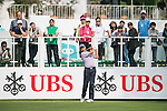 James Stewart of Hong Kong tees off the first hole during the 58th UBS Hong Kong Golf Open as part of the European Tour on 08 December 2016, at the Hong Kong Golf Club, Fanling, Hong Kong, China. Photo by Marcio Rodrigo Machado / Power Sport Images