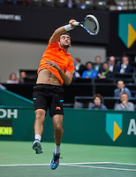 12-02-14, Netherlands,Rotterdam,Ahoy, ABNAMROWTT,      Marin Cilic (CRO)<br /> Photo:Tennisimages/Henk Koster