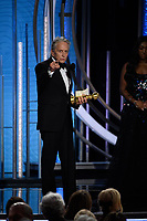 Michael Douglas accepts the Golden Globe Award for BEST PERFORMANCE BY AN ACTOR IN A TELEVISION SERIES &ndash; MUSICAL OR COMEDY for his role in &quot;The Kominsky Method&quot; at the 76th Annual Golden Globe Awards at the Beverly Hilton in Beverly Hills, CA on Sunday, January 6, 2019.<br /> *Editorial Use Only*<br /> CAP/PLF/HFPA<br /> Image supplied by Capital Pictures