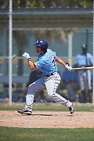 Tampa Bay Rays Matt Eureste (75) during a minor league Spring Training game against the Baltimore Orioles on March 29, 2017 at the Buck O'Neil Baseball Complex in Sarasota, Florida.  (Mike Janes/Four Seam Images)