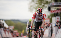 Tim Wellens (BEL/Lotto-Soudal) crossing the finish line<br /> <br /> 83rd La Flèche Wallonne 2019 (1.UWT)<br /> One day race from Ans to Mur de Huy (BEL/195km)<br /> <br /> ©kramon