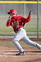 April 5, 2009:  /3b/ Tim Issler (14) of the Ball State Cardinals during a game at Amherst Audubon Field in Buffalo, NY.  Photo by:  Mike Janes/Four Seam Images