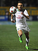 New York Cosmos No. 17 Ayoze chases after a loose ball during the first half of the NASL Championship against the Ottawa Fury at Shuart Stadium, located on the campus of Hofstra University, on Sunday, Nov. 15, 2015. The Cosmos won the match by a score of 3-2. (note to editor: subject goes by a single name)<br /> <br /> James Escher