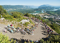 Picture by Alex Broadway/ASO/SWpix.com - 17/07/16 - Cycling - Tour de France 2016 - Stage Fifteen - Bourg-en-Bresse to Culoz - The peloton climbs the Lacets du Grand Colombier.<br />