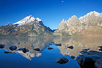 Jenny Lake, reflections, Grand Tetons<br />