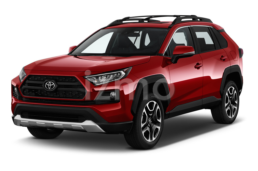 2019 Toyota RAV4 Adventure 5 Door SUV angular front stock photos of front three quarter view