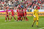 15.07.2017, Borussia Park, Moenchengladbach, GER, TELEKOM CUP 2017 Finale - SV Werder Bremen vs FC Bayern Muenchen<br /> <br /> im Bild<br /> Jubel zum 0:2, <br /> James Rodr&iacute;guez(FC Bayern Muenchen #11), Thomas M&uuml;ller / Mueller (FC Bayern Muenchen #25), Felix G&ouml;tze / Goetze (FC Bayern Muenchen #20), James Rodr&iacute;guez(FC Bayern Muenchen #11), Juan Bernat (FC Bayern Muenchen #14), Michael Zetterer (Werder Bremen #30), <br /> <br /> Foto &copy; nordphoto / Ewert