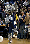 January 21, 2012:   Nevada Wolf Pack mascot Wolfie Jr dances before their game against the Fresno State Bulldogs at Lawlor Events Center on Saturday night in Reno, Nevada.