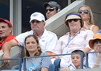 FLUSHING NY- SEPTEMBER 2: Jerry and Blanch Roddick watching Andy Roddick Vs Fabio Fognini on Arthur Ashe stadium at the USTA Billie Jean King National Tennis Center on September 2, 2012 in in Flushing Queens. Credit: mpi04/MediaPunch Inc. ***NO NY NEWSPAPERS*** /NortePhoto.com<br />