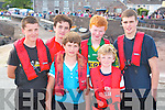 REGATTA: Taking part in the Brandon regatta last Sunday were front l-r: Seamus and Eoghan Lyne. Back l-r: Ross Spillane, Mikey Lyne, Niall Moynihan and Luke Mullally (all Brandon)