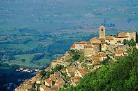 Town of Poggio Bustone on a hillside high above the Rieti Valley, Lazio, Italy, AGPix_0105.