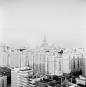 Moscow, Russia.September 16, 2009..Construction around Moscow State University, a site for major construction of housing and campus housing.........