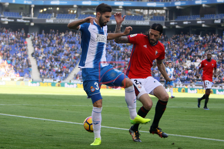 League Santander 2016/2017. Game: 24.<br /> RCD Espanyol vs CA Osasuna: 3-0.<br /> Marc Navarro vs Vujadinovic.